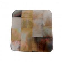 Quadrato in conchiglia  black lip con resina cm 4.5x4.5