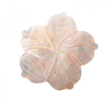 Fiore in conchiglia mop con foro cm 5 circa