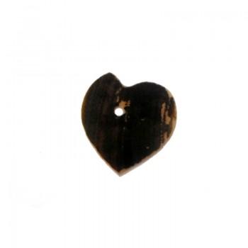 Cuore mm 15 con foro centrale (black - lip)