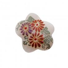 Fiore in conchiglia mop decorata cm 3.5