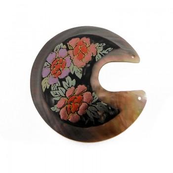 Particolare in conchiglia black lip decorata con fori cm 5.5