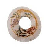 Cerchio in conchiglia hammer decorato cm 5 circa