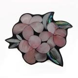 Fiore in resina e conchiglia con fori mm 70 circa