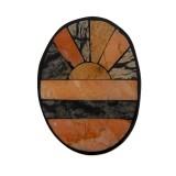 Ovale in resina e pietra mm 60X45
