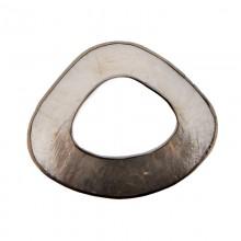 Forma irregolare in conchiglia argento con bordo in metallo mm 5x4