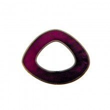 Forma irregolare in conchiglia viola con bordo in metallo mm 5x4