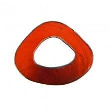 Forma irregolare in conchiglia arancio con bordo in metallo mm 5x4