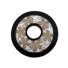Tondo in resina con merletto grigio mm 58