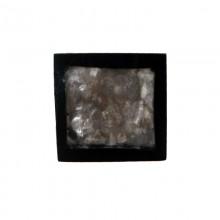 Quadrato in resina 25 x 25 con conchiglia grigia