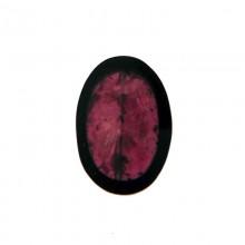 Ovale in resina 20x28 con conchiglia viola