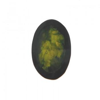 Ovale in resina 20x28 con conchiglia verde