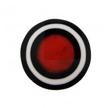 Tondo in resina mm50 con conchiglia rossa