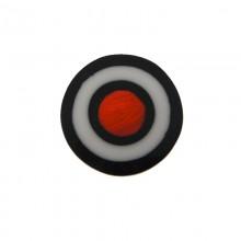 Tondo in resina mm30 con conchiglia rossa