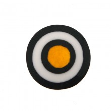 Tondo in resina mm30 con conchiglia gialla