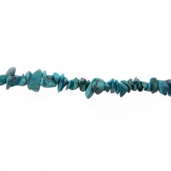 Pietra dura cips turchese americano filo da cm.90