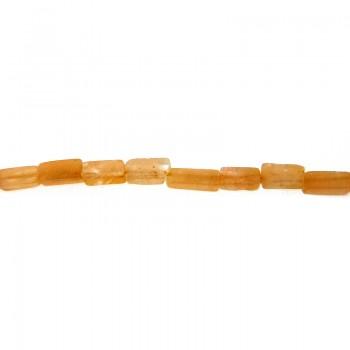 Filo cubetto pietra luna arancio (pz 50 circa) cm 40