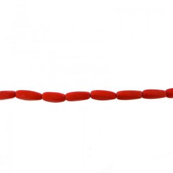 Filo cilindro corallo rosa (pz 35 circa ) cm 40