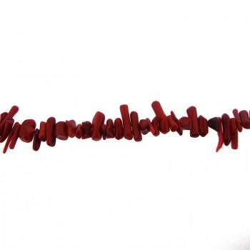 Filo cips corallo rosso chiaro cm.40
