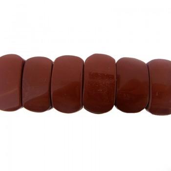 Particolare in diaspro rosso da mm 26x14 con 2 fori