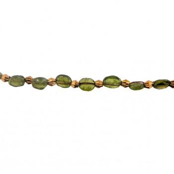 Filo olivina peridot+metallo al mt