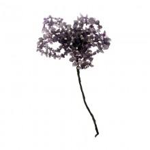 Fiore in pietra dura e minuterie in metallo cm 5/6 circa gambo escluso