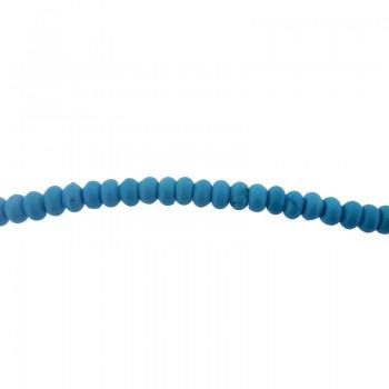 Filo cm 40 turchese naturale con rondella da mm 6.5