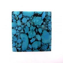 Quadrato mm 63x63 turchese sintetico