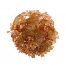 Bottone mm 35 con perla rosa+citrino