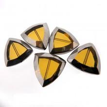Triangolo vetro mm 24x23.5 giallo e argento