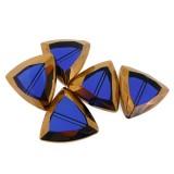 Triangolo vetro mm 24x23.5 blu e oro