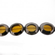 Ovale vetro mm 20x24 giallo e argento