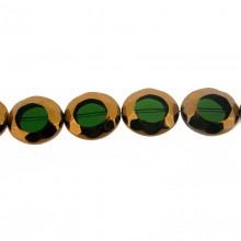 Ovale vetro mm 20x24 verde e oro