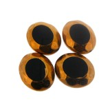 Ovale in vetro mm 20 x 24 nero e oro