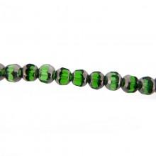 Tondo vetro mm 6 verde e argento