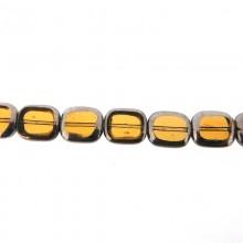 Rettangolo in vetro mm 10X12 giallo e argento