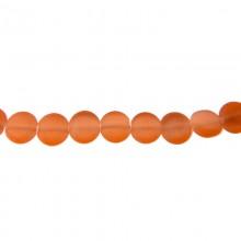 Filo di 40 cm con elemento tondo piatto in vetro mm.6 arancione (pz. 67)