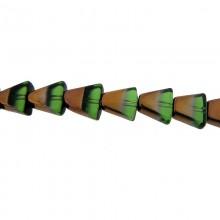 Vetro triangolare 10x10mm bicolore verde