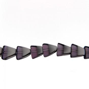 Vetro triangolare 10x10mm bicolore fucsia