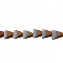 Vetro triangolare 10x10mm bicolore bianco