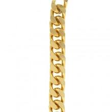 Catena in alluminio ossidata oro 10 x 15 mm