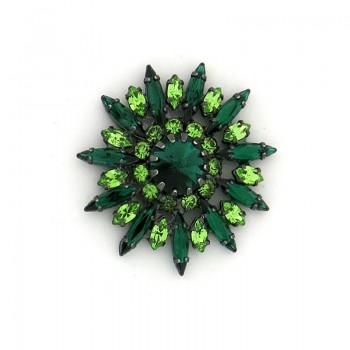 Accessorio con strass navette verde