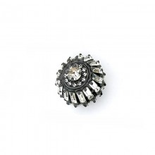 Bottone piccolo con baguette crystal