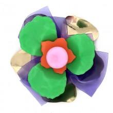 Fiore in metallo e plexi 7 cm circa