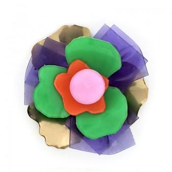 Fiore in metallo e plexi 5 cm circa