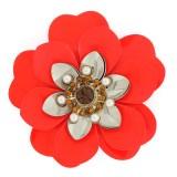 Accessorio fiore con strass e perle 8 cm