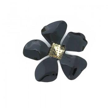 Accessorio fiore nero con piramide 70 mm circa