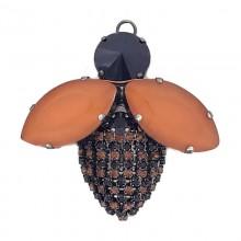 Accessorio insetto con pietre e strass 60 mm
