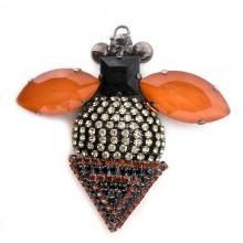 Accessorio insetto con pietre e strass 80 x 75 mm