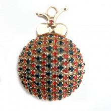 Accessorio insetto con strass 50 x 40 mm
