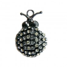Accessorio insetto con strass 40 x 25 mm